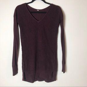 Lululemon Maroon V-Neck Sweater